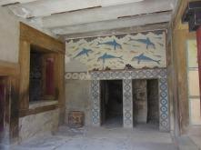 Fresko mit Delphinen, minoischer Palast.