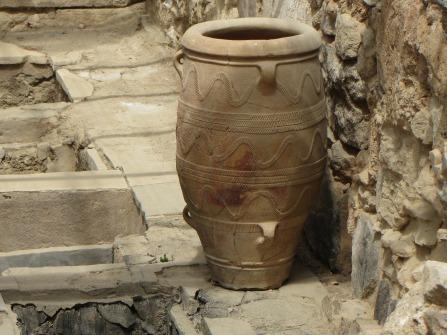 Vorratsgefäß aus Ton; Palast von Knossos, Kreta.