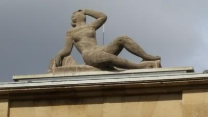 Skulptur aus Muschelkalk, 1926.